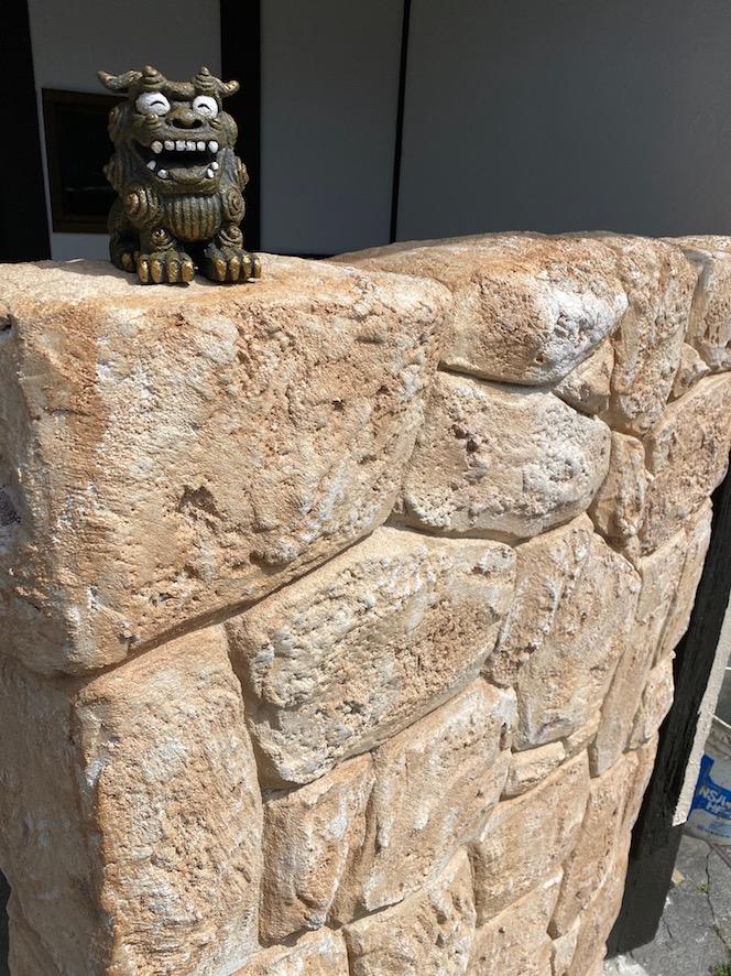 モルタル造形による石垣